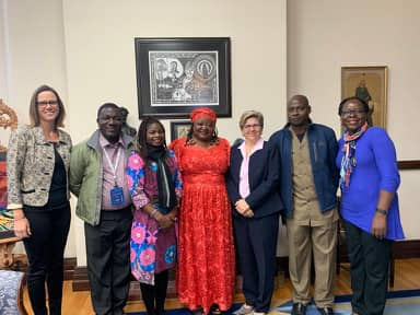 NNAD representative and Steering Committee members for GAIN-Africa after meeting with President of Gally with Prof Khadijat Rashid, Amanda Mueller and others.